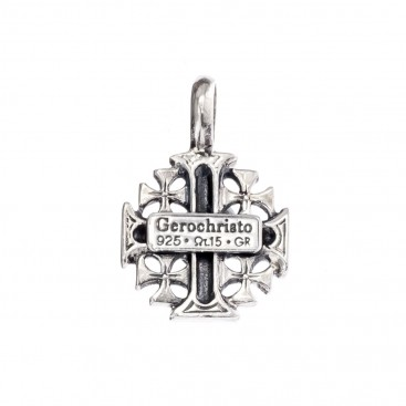 Gerochristo 5116N ~ Sterling Silver Jerusalem Cross Small Pendant