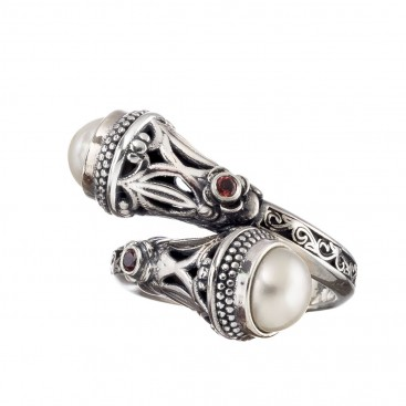 Gerochristo 20091N ~ Sterling Silver Crossover Multi-Stone Ring