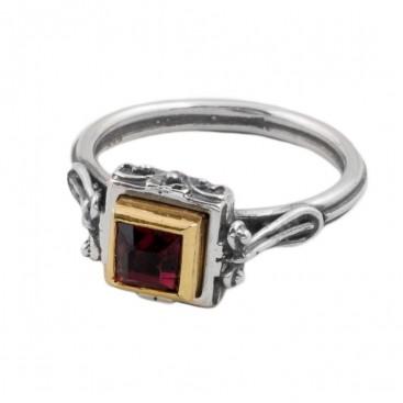 D263 ~ Sterling Silver & Swarovski Medieval-Byzantine Ring