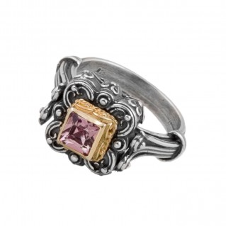 D254 ~ Sterling Silver and Swarovski - Medieval Byzantine Ring