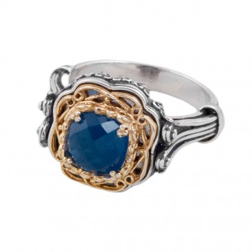D291 ~ Sterling Silver Single Stone Medieval Byzantine Ring
