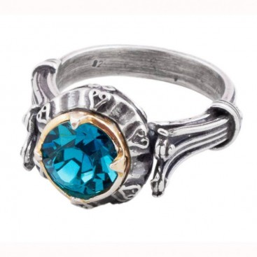 D207 ~ Sterling Silver and Swarovski or Pearl - Medieval Byzantine Ring
