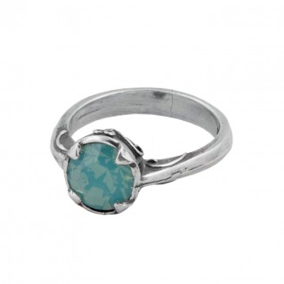 D219 ~ Sterling Silver & Swarovski Solitaire Ring
