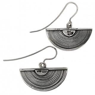 Sterling Silver Byzantine Half Spiral Drop Earrings ~ Savati 314