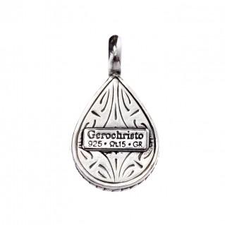 Gerochristo 1367N ~ Sterling Silver & MOP Byzantine Charm Pendant