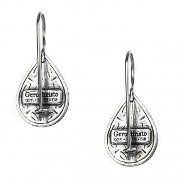 Gerochristo 1367N ~ Sterling Silver & MOP Medieval-Byzantine Drop Earrings