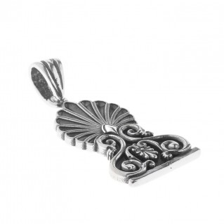 Sterling Silver Greek Hellenistic Palmette Antefix Charm Pendant