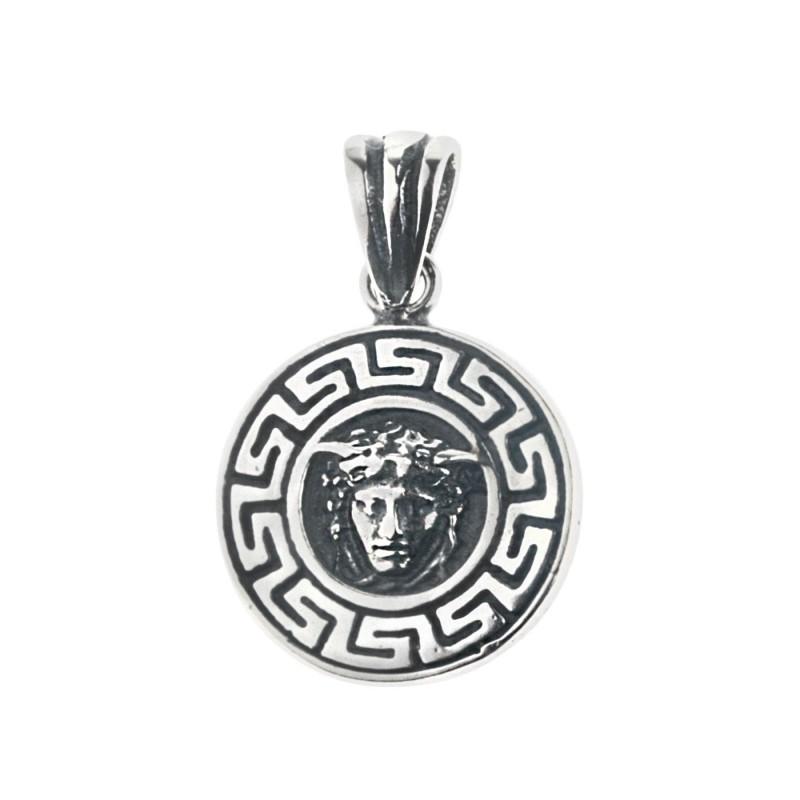 Head Of Medusa Sterling Silver Charm