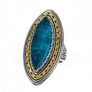 Gerochristo P20013N ~ Sterling Silver Medieval-Byzantine Large Cocktail Ring