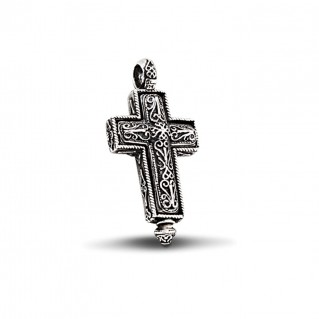 Byzantine Reliquary Locket Latin Cross Pendant ~ Dimitrios Exclusive ST187