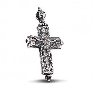 Byzantine Reliquary Locket Crucifix Large Cross Pendant ~ Dimirios Exclusive ST167