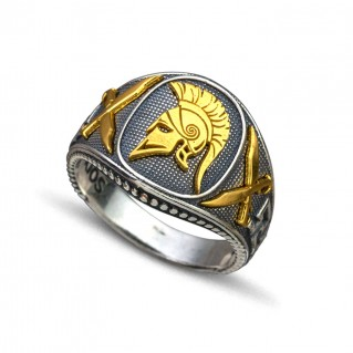 Spartan Warrior Silver Chevalier Ring ~ Dimitrios Exclusive D099