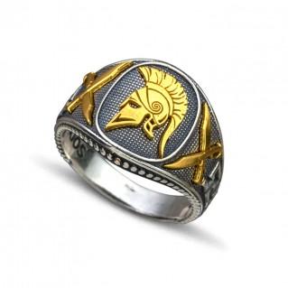 Spartan Warrior Silver Chevalier Ring ~ Dimitrios Exclusive D099