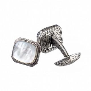 Gerochristo 7212N ~ Sterling Silver Medieval Byzantine Cufflinks