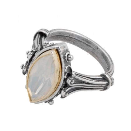 D225 ~ Sterling Silver and Swarovski - Medieval Byzantine Ring