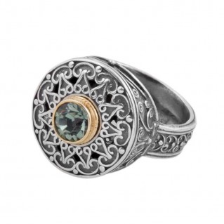 D253 ~ Sterling Silver and Swarovski - Medieval Byzantine Ring