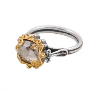 D248 ~ Sterling Silver & Swarovski Solitaire Ring