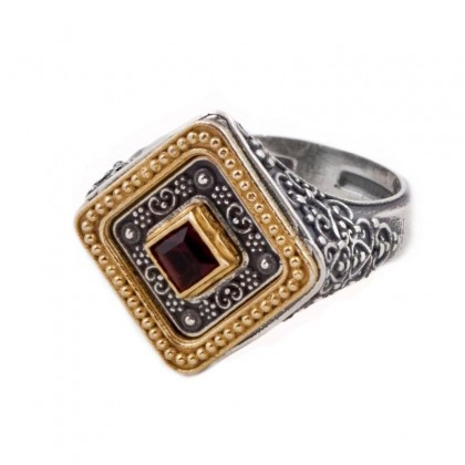 D286 ~ Sterling Silver and Swarovski - Medieval Byzantine Ring