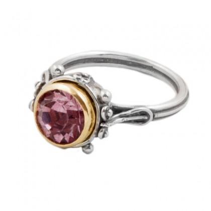 D265 ~ Sterling Silver & Swarovski Single Stone Ring