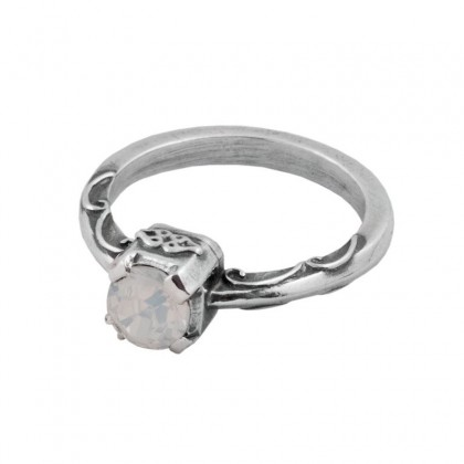 D210 ~ Sterling Silver & Swarovski Solitaire Ring