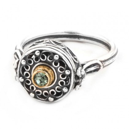 D249 ~ Sterling Silver and Swarovski - Medieval Byzantine Ring