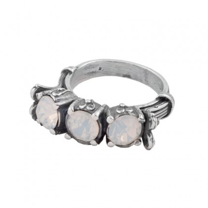 D262 ~ Sterling Silver and Swarovski - Multi Stone Band Ring
