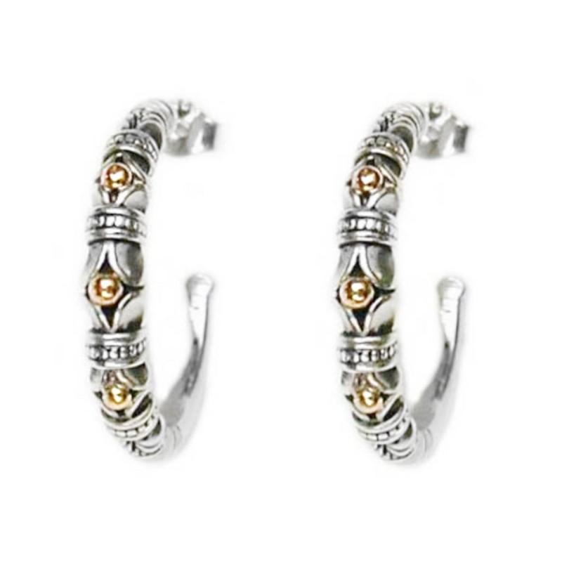 6c697435036e7 Designer Half Hoop Earrings – Gerochristo 1013 – 18k Gold & Silver ...