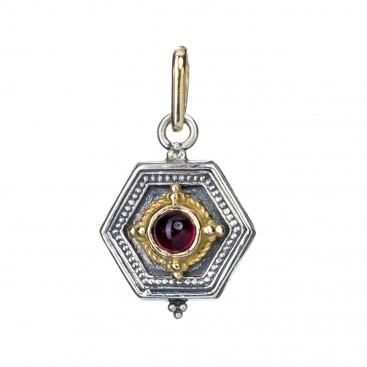 Gerochristo 1027 ~ Solid Gold & Silver Medieval Byzantine Pendant