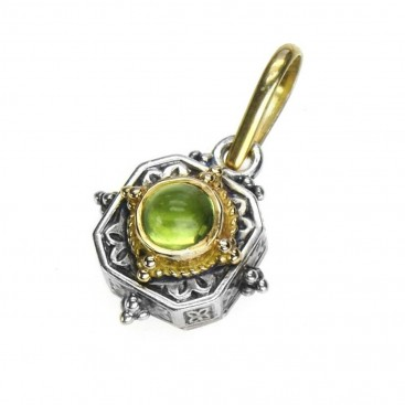 Gerochristo 1029 ~ Solid Gold & Silver Medieval-Byzantine Pendant