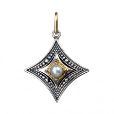 Gerochristo 1054 ~ Solid Gold & Sterling Silver Medieval-Byzantine Pendant