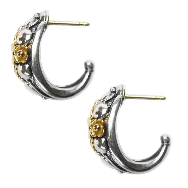 1bfc4406367f8 Designer Half Hoop Earrings – Gerochristo 1125 – 18K Gold & Silver ...