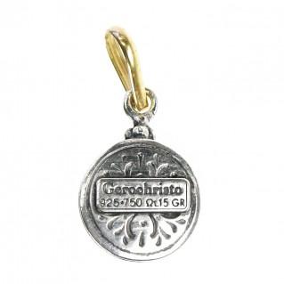 Gerochristo 1180 ~ Solid Gold & Sterling Silver Medieval Byzantine Pendant