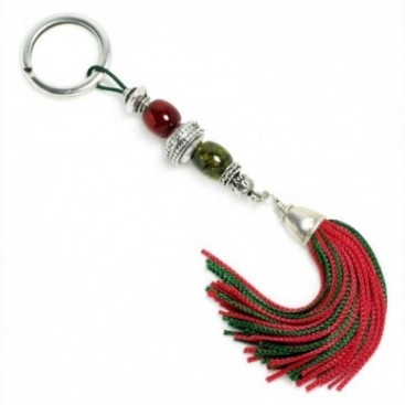 Xmas Keyring-Key Chain ~ High Quality Artificial Resin with Tassel - R&G