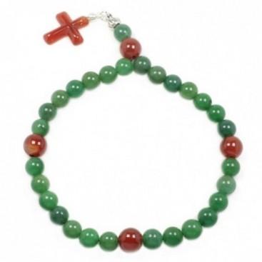 Rosary - Aventurine & Carnelian Gemstones