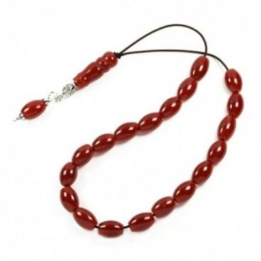 Worry Beads-Greek Komboloi ~ Carnelian Gemstone - Rice Shape