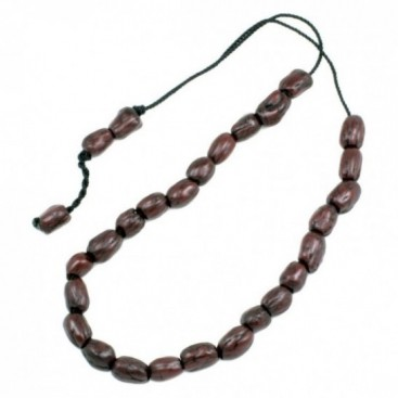 Worry Beads - Greek Komboloi ~ Scented Olive Seeds - Brown