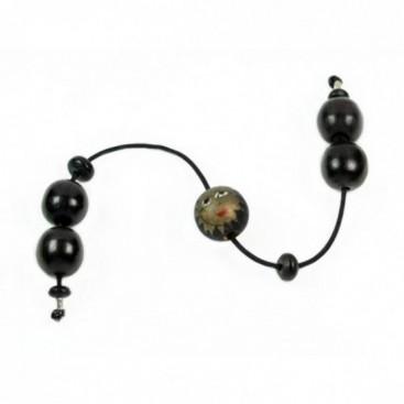 Begleri Beads - Ebony wood & painted wood - Round Shape