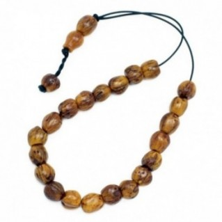 Worry Beads - Greek Komboloi ~ Scented Nutmeg Seeds - Light Brown