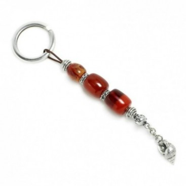 Keyring-Key Chain ~ High Quality Artificial Resin with Seashell - DO&R