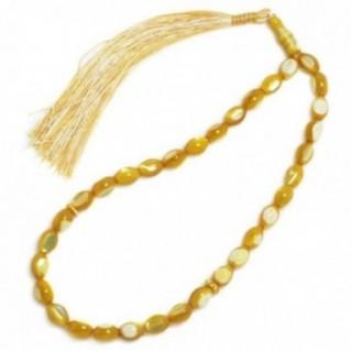 Prayer Beads-Tasbih-Masbaha ~ Mother of Pearl-MOP- Yellow