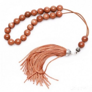 Worry Beads - Greek Komboloi ~ Brown Goldstone - Round