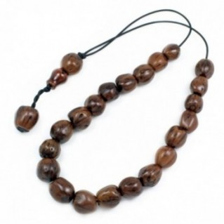 Worry Beads - Greek Komboloi ~ Scented Nutmeg Seeds - Brown