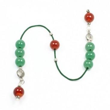 Begleri Beads - Aventurine & Carnelian Gemstones - Round Shape