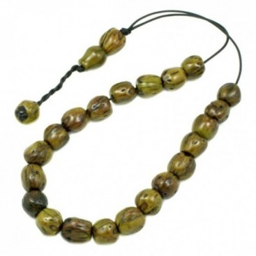 Worry Beads - Greek Komboloi ~ Scented Nutmeg Seeds - Green