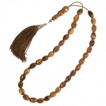 Prayer Beads-Tasbih-Masbaha-Komboloi ~ Kuka-Coconut - Olive Faceted Beads