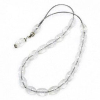 Worry Beads-Komboloi ~ Rock Crystal-Clear Quartz Gemstone - Rice