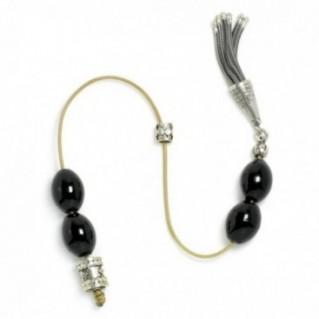 Begleri Beads - Black Coral-Yusr & Sterling Silver