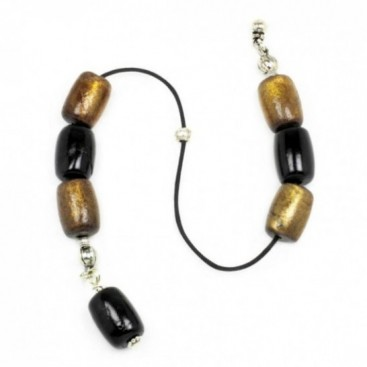 Begleri Beads - Black Coral-Yusr ~ Black & Golden