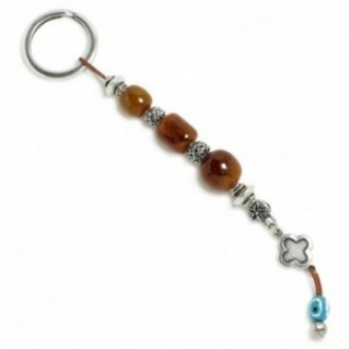 Amulet Keyring-Key Chain ~ High Quality Artificial Resin, Evil Eye & Cross