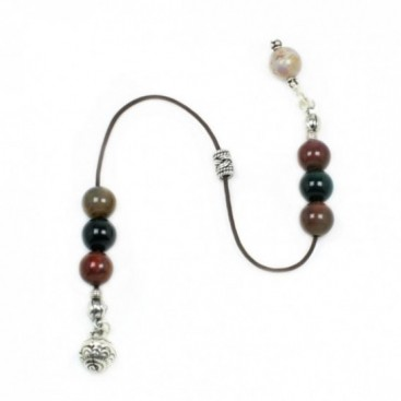 Begleri Beads - Moss Agate Gemstone and Silver Chime Bell